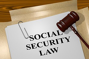 3D ilustration of social security law