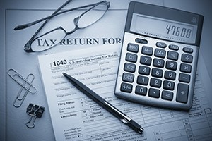 Calculating numbers for income tax return
