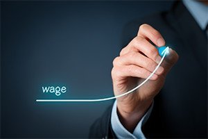Increase wage concept chief financial officer