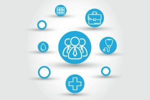 Vector healthcare circle concept