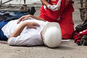 Work accident first aid training