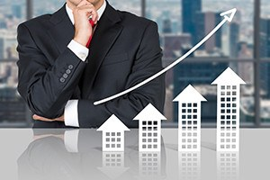 Businessman and real estate market